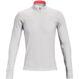 Under Armour Qualifier Half Zip Men, halo gray-venom red